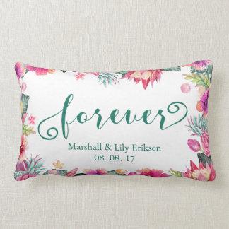 Almohada floral tropical personalizada del Lumbar