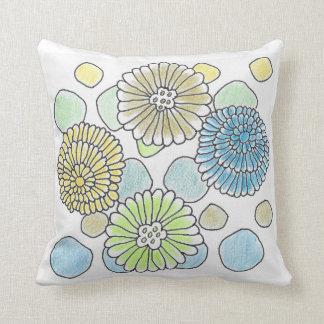 """Almohada floral y de los círculos 16"""" de tiro x16"""