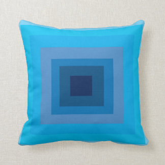 Almohada geométrica azul