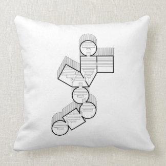 Almohada geométrica blanco y negro