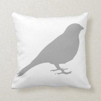 Almohada gris del pájaro