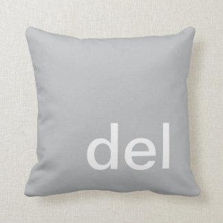 almohada, gris y blanco del botón del del cojín