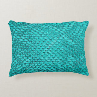 Almohada hermosa de la textura de la serpiente de