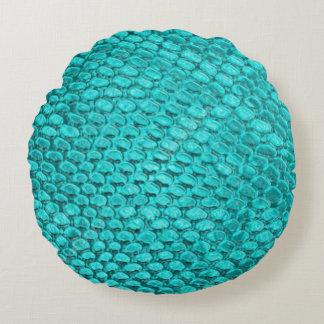 Almohada hermosa de la textura de la serpiente de cojín redondo