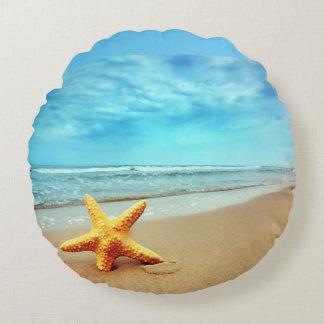 almohada hermosa de las estrellas de mar y de la cojín redondo