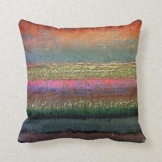 Almohada intrépida del contemporáneo del color