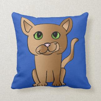 Almohada linda del gato de Brown