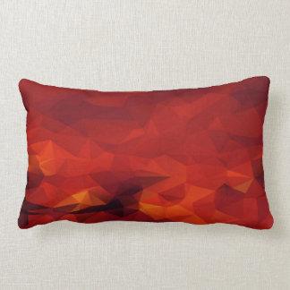 Almohada lumbar abstracta del fuego