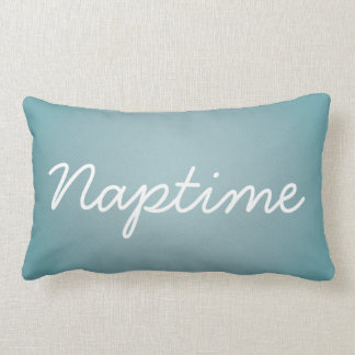 Almohada lumbar azul de Naptime