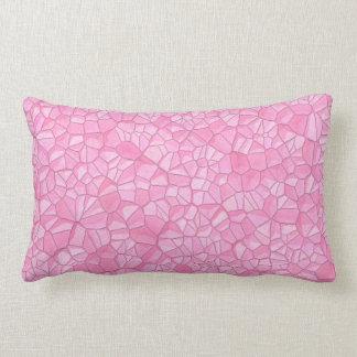 """Almohada lumbar cristalina rosada 13"""" X 21 """""""