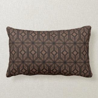 Almohada marrón del Lumbar del algodón del mosaico