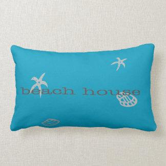 Almohada náutica azul marina del tema de la casa