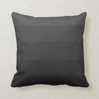 Almohada negra de la felpa de la tira de la