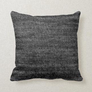 Almohada negra del dril de algodón