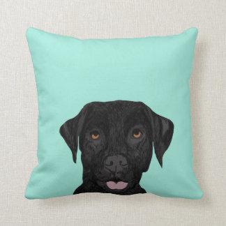 Almohada negra del perro de Labrador - laboratorio
