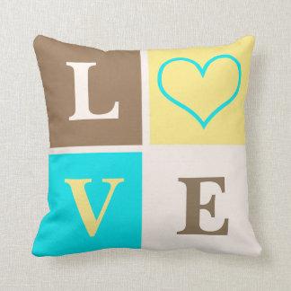 Almohada neutral de la decoración del cuarto de