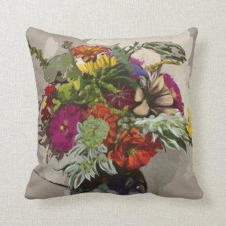 Almohada original del acento de la flor del arte