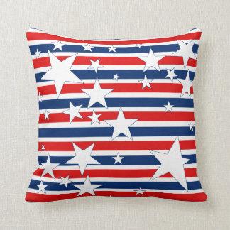 Almohada patriótica de las barras y estrellas