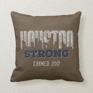 Almohada personalizada apenada fuerte de Houston