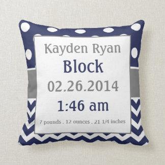 Almohada personalizada de la invitación del bebé