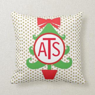 Almohada personalizada del árbol de navidad