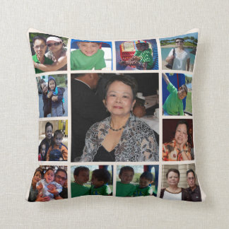 Almohada personalizada del collage de la foto