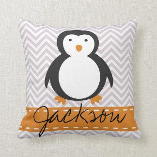 Almohada personalizada del pingüino del día de