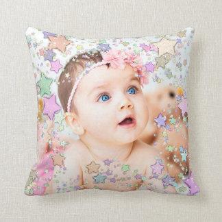 Almohada personalizada foto estrellada del bebé