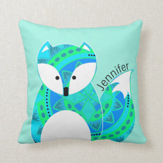Almohada personalizada Fox colorida