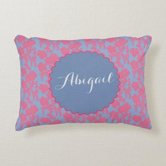 Almohada personalizada rosa japonés de la