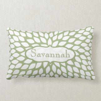 Almohada personalizada verde del helecho de la
