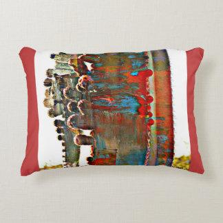 Almohada pintada del acento del cactus del tubo de