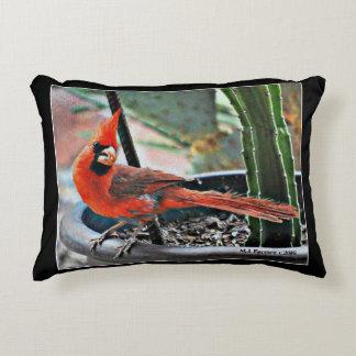 Almohada polivinílica cepillada cardenal pintada