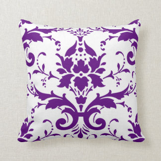 Almohada púrpura del damasco