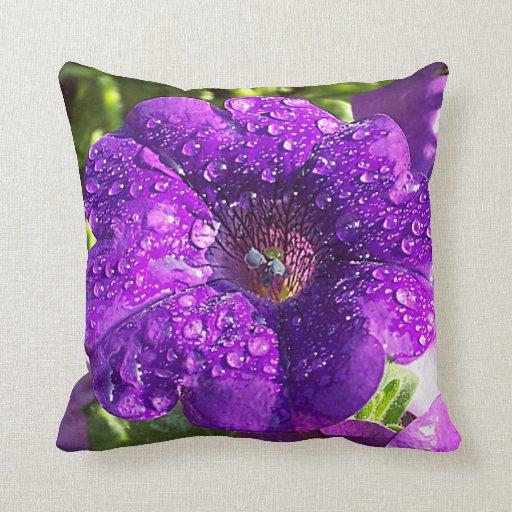 Almohada púrpura enorme de la flor de la petunia