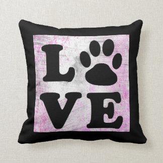 Almohada púrpura y negra del gato del perro de la