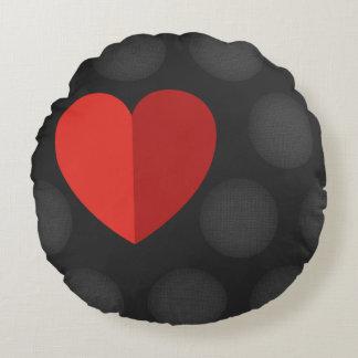 Almohada redonda agradable del amor