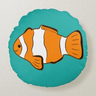 Almohada redonda de Clownfish Cojín Redondo