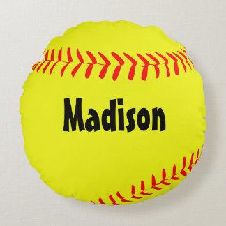 Almohada redonda de encargo del softball