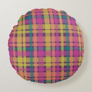 Almohada redonda de las telas escocesas del trullo cojín redondo