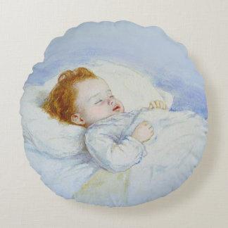 Almohada redonda del bebé el dormir cojín redondo