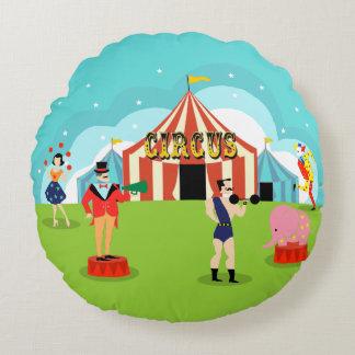 Almohada redonda del circo del vintage cojín redondo