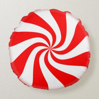Almohada redonda del día de fiesta del caramelo de