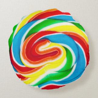 almohada redonda del lollipop del remolino cojín redondo