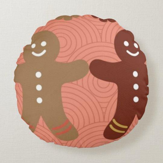 almohada redonda del poliéster del pan de jengibre cojín redondo