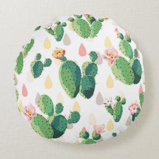 Almohada redondeada cactus precioso suculento cojín redondo
