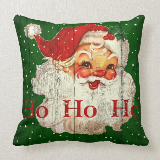 Almohada retra de Papá Noel del vintage Ho Ho Ho