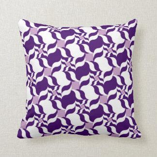 ALMOHADA RETRA, púrpura, blanco y lavanda del