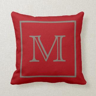 Almohada roja enmarcada moca de MoJo del americano