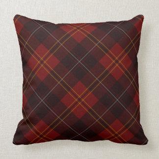 Almohada roja y negra del día de fiesta de la tela